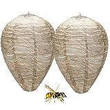 Nido de avispas, 2 piezas repelente de nidos de avispas falso Señuelo Colgando de Nido nido de...