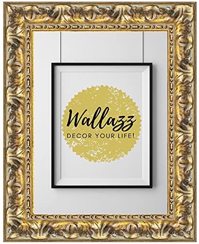 Wallazz Cornice PORTAFOTO in Legno da Parete, Made in Italy, Stile Classico, Dimensione 70X100 CM, Colore Oro