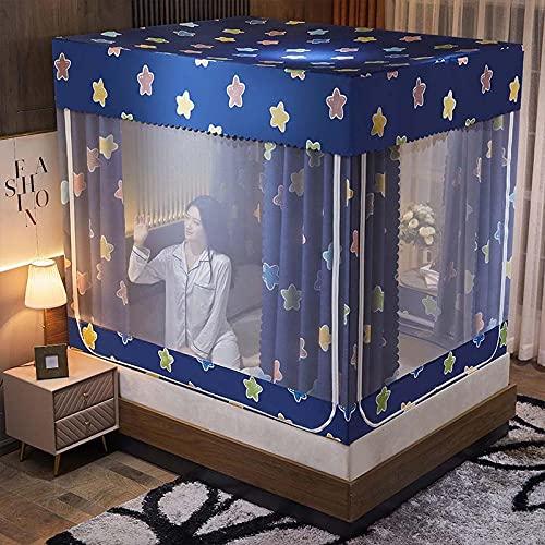 Cama de la Cama Mosquito Net Cortina de Malla Proteger contra Insectos 3 Aberturas Laterales para niñas Princess Dormitorio Dormitorio Decoración de Decoración Regalos-D_180x220cm