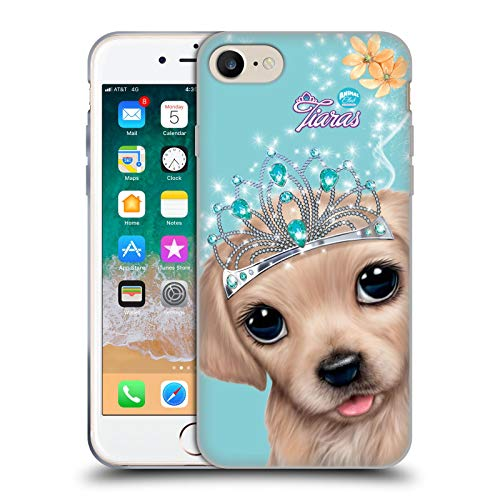 Head Case Designs Licenciado Oficialmente Animal Club International Golden Retriever Royal Faces Carcasa de Gel de Silicona Compatible con Apple iPhone 7 / iPhone 8 / iPhone SE 2020