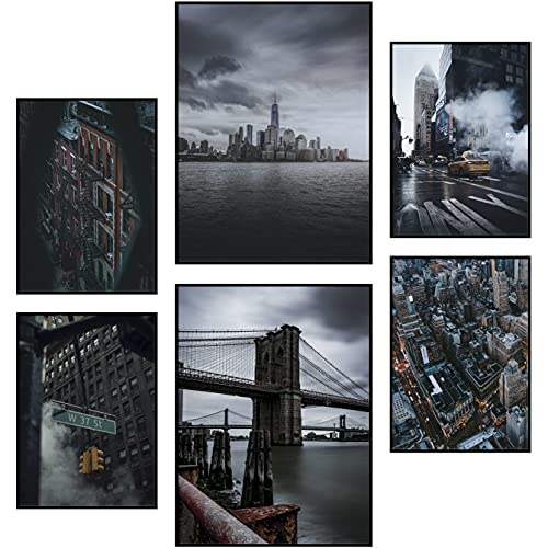 Reframed® Set di poster New York di alta qualità, adatto per cornici Ikea | 2 x 30 x 40 cm & 4 x 21 x 30 cm | decorazione da parete elegante | Set di poster alla moda | senza cornice