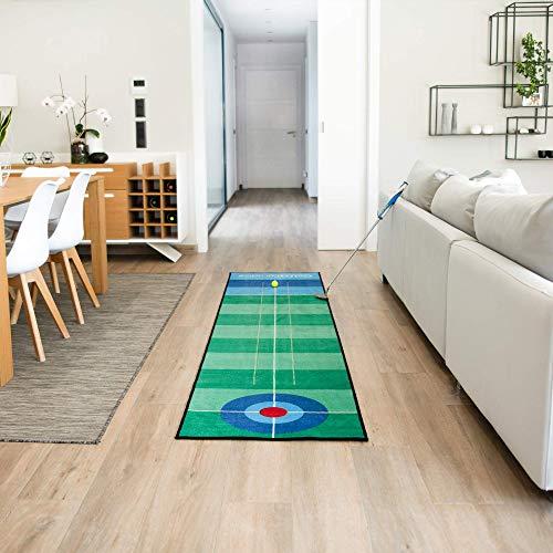 Desconocido Alfombra Putting de Golf, Esterilla de Práctica, 3m y 5m, Entrenamiento Interiores y Ex
