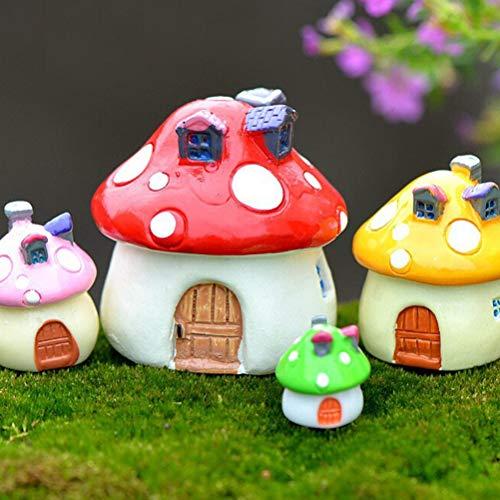 Cute 3 Sizes Resin Fairy Garden Craft Decoration Miniature Micro Gnome Terrarium Mediterranean house mushroom Castle Gift