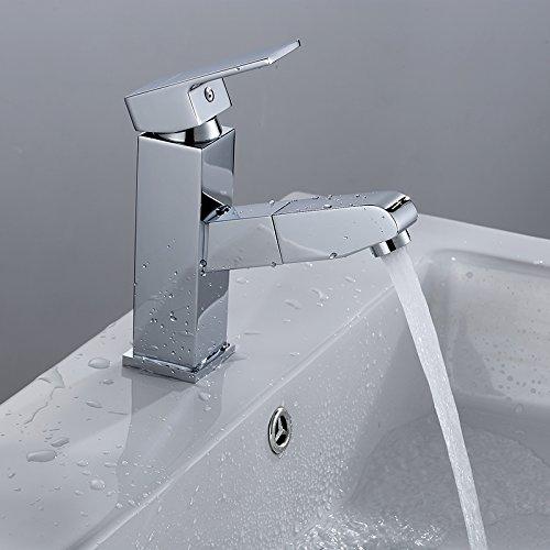 Retro Deluxe Faucetinging DIO sanitair koper pompen Hand-getrokken Noodle wastafel kraan intrekbare waterkraan