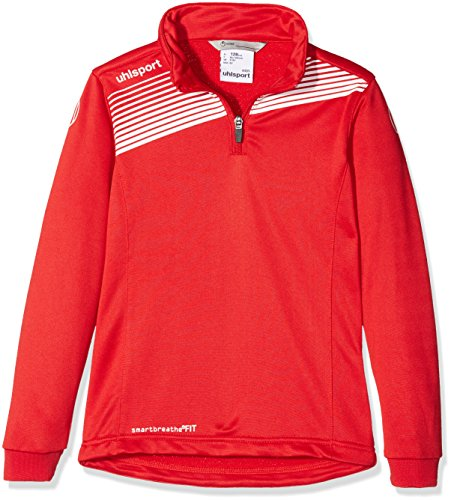 uhlsport Bekleidung Teamsport Liga 2.0 1/4 Zip top Kinder Sweatshirt, rot/Weiß, 164