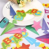 Faburo 42Pcs Schuleinführung Einschulung Deko Set Schule Bunte Zuckertüte Einschulung ABC 123 Buchstaben Sterne Aufkleber für Kinder Schulanfang Dekoration - 2