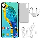 6pro Blue Metal Smartphone, 6.7 pulgadas, pantalla de caída, tarjetas duales, doble modo de espera, desbloqueo facial, teléfono móvil inteligente, compatible con varios idiomas Bluetooth4.0 6 + 64G(2)
