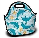 Mochila de neopreno para niños con diseño de dibujos animados, bolsa de la compra, bolsa de almuerzo, bolso con correa ajustable para el hombro para niños y niñas
