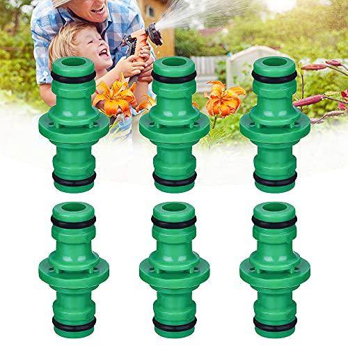 NETUME 6 connettori doppi maschio per connettere il connettore maschio a maschio, connettore per tubo da giardino (verde)