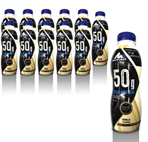 Multipower 50g Protein Shake, Sabor Vanilla - 12 Unidades