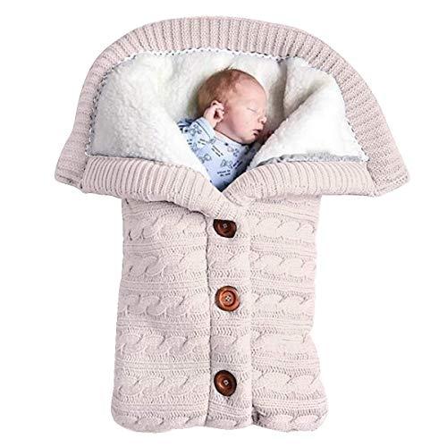 FORBABY Bolsas de dormirSwaddle Wrap Manta Saco de Dormir para recién Nacido más Terciopelo Suave cálido cómodo Saco de Dormir (0-12 Meses),White