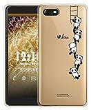 Sunrive Für Wiko Tommy 3 Hülle Silikon, Transparent Handyhülle Schutzhülle Etui Hülle für Wiko Tommy 3(TPU Panda 1)+Gratis Universal Eingabestift