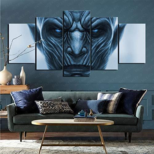 mmkow Lienzo impreso para pared 5 programas de televisión Juego de Tronos Living Art Artist's Hobby Painter 50 x 100 cm (enmarcado)