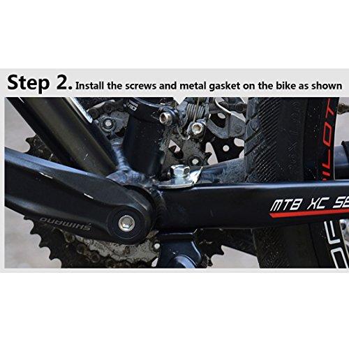 tinxi® Fahrradständer Seitenständer Hinterbau Mittelbau verstellbar 24″ 26″ Universal mit Anti-Rutsch Gummifuß Aluminiunlegierung - 4