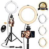 8' Ring Light with Tripod Stand - Dimmable Selfie Ring Light LED Camera Ringlight with Tripod and...