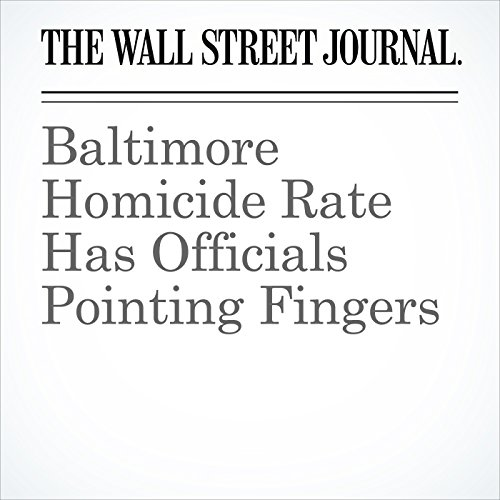 Baltimore Homicide Rate Has Officials Pointing Fingers copertina