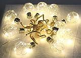 DARO DEKO Lichterkette Glühbirnen 100 LED 3m