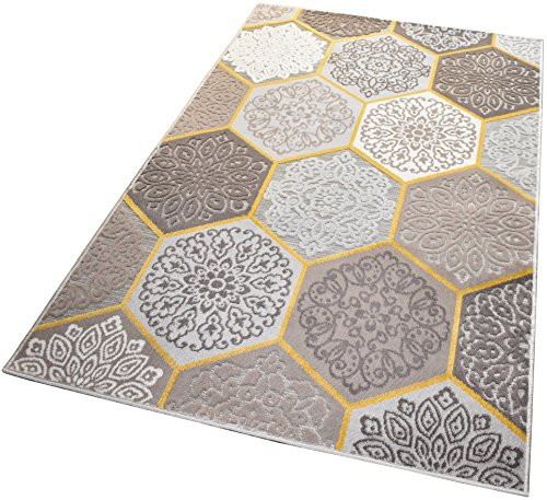 Balta Rugs In- und Outdoor-Teppich Classic Hexagon Tiles Brown L 160x230cm für Innen und Außen