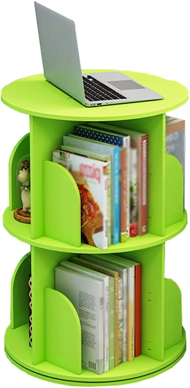 Bookcase,Wooden redatable Desktop Bookshelf Bookshelf Bookcase Desktop Organizer Shelf Storage Rack for Students, Home, Office,Green,40  66cm