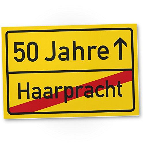 DankeDir! 50 Jahre (Haarpracht) Kunststoff Schild - Geschenk 50. Geburtstag, Geschenkidee Geburtstagsgeschenk Fünzigsten, Geburtstagsdeko/Partydeko/Party Zubehör/Geburtstagskarte