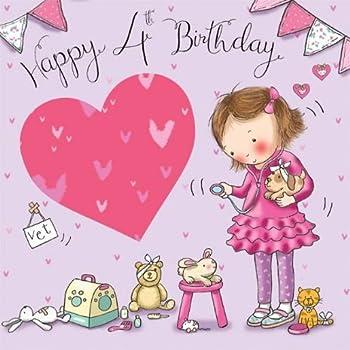 Twizler Geburtstagskarte, Motiv: Mädchen mit süßer