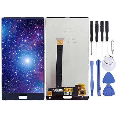 Compatibele Vervangings LCD-scherm en Digitizer Volledige Vergadering for elefoon S8 Accessory (Color : Blue)