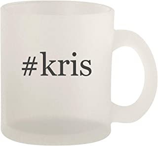 #kris - Glass 10oz Frosted Coffee Mug