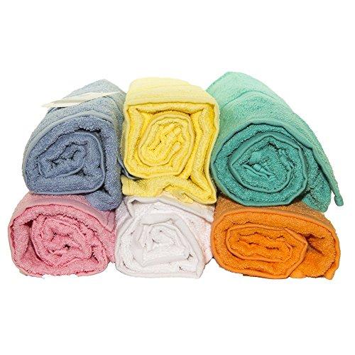 Tre Effe 1 Set da 12 asciugamani viso e bidet modello hotel B&B in morbido cotone 100% centimetri 60x100 il viso e 40 x 60 il bidet. 6 pz viso + 6 pz bidet