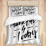 Funda nórdica, Citas Minimalistas positivas y motivacionales, Letras de caligrafía Bursh de Tinta, Ropa de Cama de Microfibra de Calidad, Ultra Suave, cómodo diseño Moderno