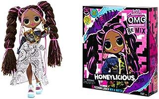 L.O.L. Surprise! O.M.G. Remix - z 25 niespodziankami - kolekcjonerska lalka modowa, odzież i akcesoria - Honeylicious