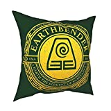 QWEQW Xcphmy Atla Earthbender Symbol Bedroom Living Room Sofa Decoration Comfortable Cushion Pillowcase 16'X16'