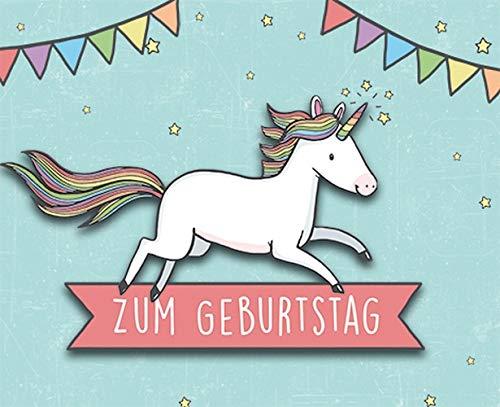 Geburtstagskarte Midi-Card - Einhorn, Klammer - 6,5 x 8,0 cm
