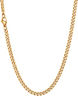 Cadena eslabon Cubano 46-76 cm Largo 3/6/9/12mm Ancho, Artesanía Corte de Diamante Cadena Universal para Colgantes, Color Plata/Negro/Oro Cadena para Hombre Mujer