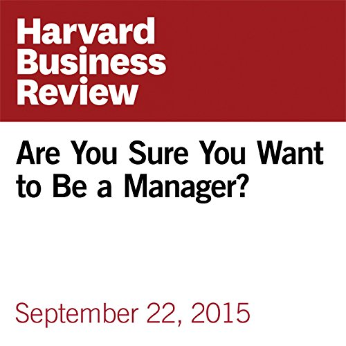 Are You Sure You Want to Be a Manager? copertina
