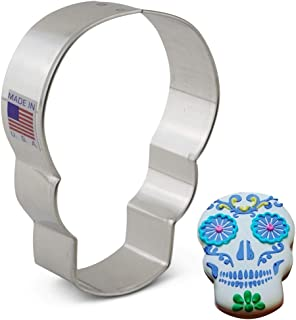 Ann Clark Cookie Cutters Day of the Dead/Dia de los Muertos/Skull Cookie Cutter, 3.6
