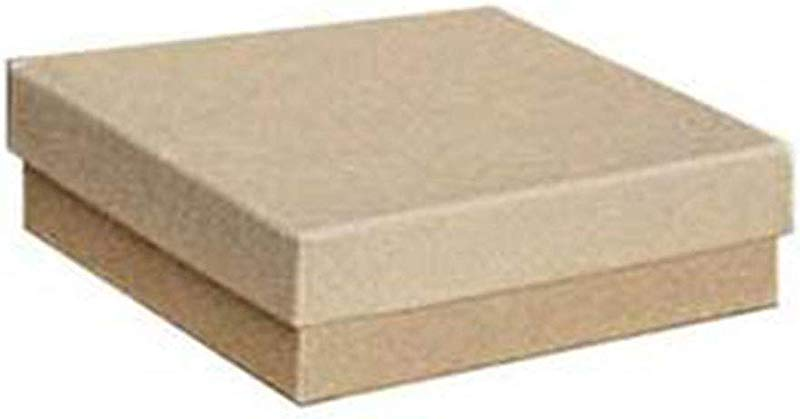 Cotton Filled Kraft Jewelry Boxes 3 X 3 X 1 Case Of 100
