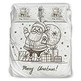 WellWellWellwell - Juego de cama con 3 fundas de almohada (264 x 229 cm), diseño de árbol de Navidad