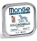 Monge Monoproteico Solo Agnello Alimento Umido per Cani 12x150gr