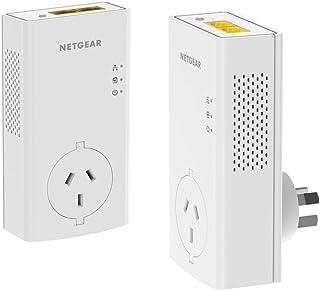 NETGEAR Powerline 2000 Mbps Gigabit Ethernet Port Adapter with Passthrough (PLP2000-100AUS), White, PLP2000-100AUS