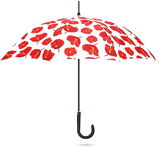 Parapluie Prougeection UV Prougeection Contre Le Soleil Longue Poignée Rain and Rain Poignée Droite Long Fée ZJING (Couleur   B)