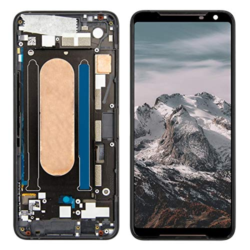 Telefoonscherm Vervanging Fit For Asus Zs660kl ASUS ROG Telefoon 2 ZS660KL LCD Touch Screen Digitizer Vergadering Weergave Met Frame Vervanging Phone Screen Replacement (Color : Black With Frame)