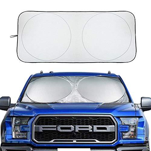 XBRN Car Windshield Sun Shade, Block UV Rays Sun Visor Protector Car Shade, Car Window Shade to Keep Vehicle Cool Auto Universal Car Sunshade 71 x 37