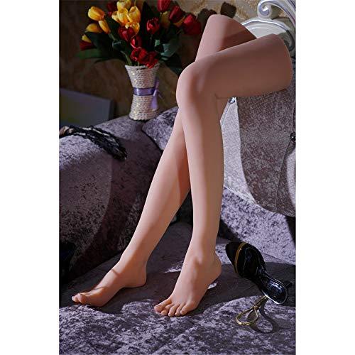 AFYH Belles Jambes Fuß Fetische, 68 cm Modell mit schlanken und schlanken Beinen, Fußlänge 22,5 cm, eingebauten Knochen, klarer Textur, realistischen Beinen und wunderschönem Fußdisplay,Left Leg