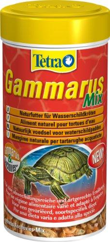 Tetra Gammarus Mix (Naturfutter mit Bachflohkrebsen und Anchovies für Wasserschildkröten), 250 ml Dose
