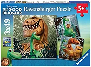 Ravensburger The Good Dinosaur: The Dino Gang 3 49 Piece Jigsaw Puzzles for Kids – Every Piece is Unique, Pieces Fit Together Perfectly