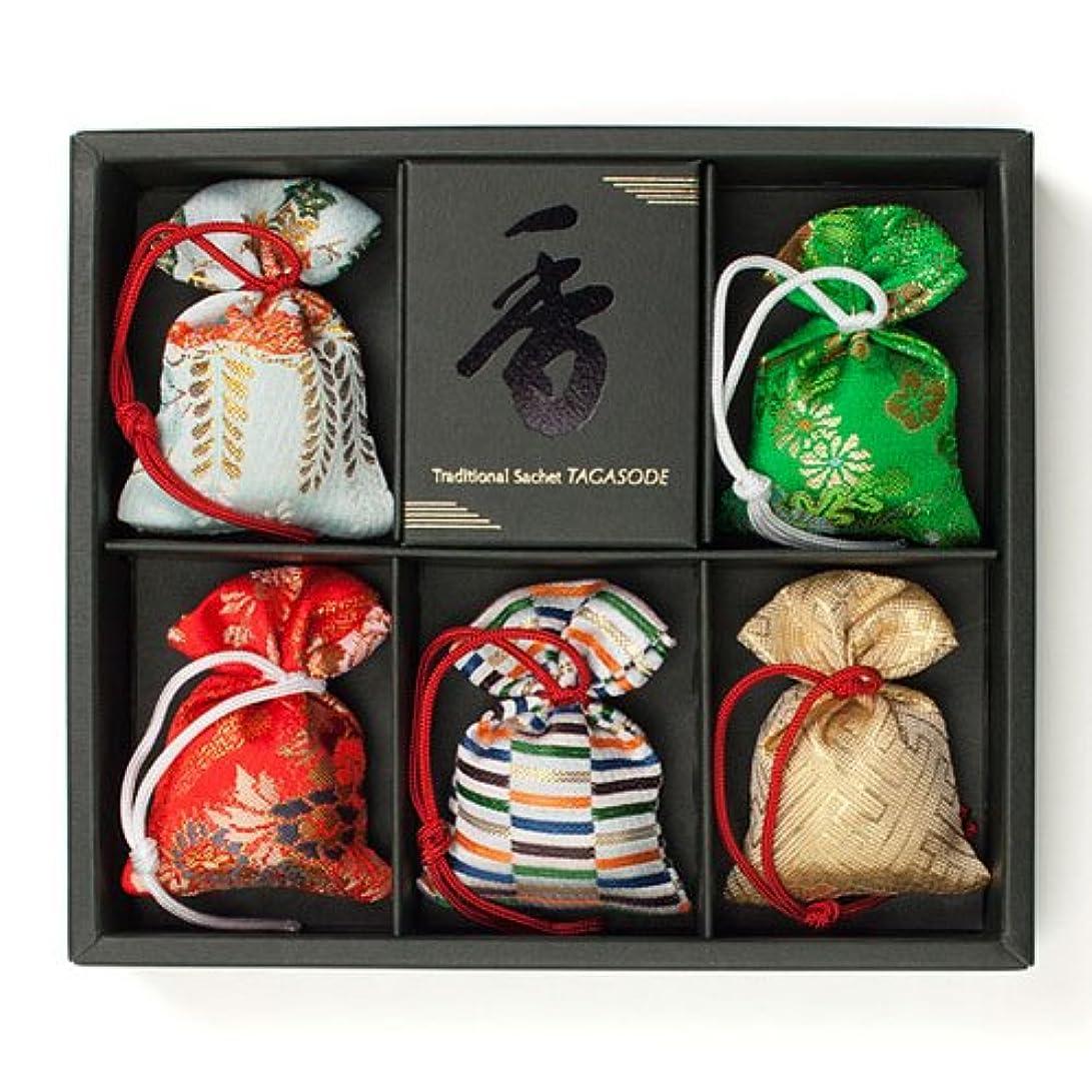 原子高尚な治療匂い袋 誰が袖 極品 5個入 松栄堂 Shoyeido 本体長さ60mm (色?柄は選べません)