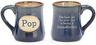 Pop Best Job Ever Porcelain Navy Blue Coffee Tea Mug Cup 18oz Gift Box