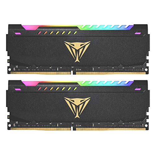 Patriot Viper Steel RGB DDR4 RAM LED 32GB (2 x 16GB) 3200MHz Kit RAM Black