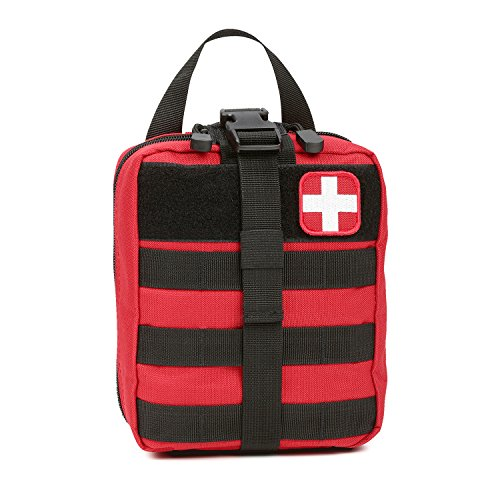 Orca Tactical MOLLE Rip-Away EMT Medical First Aid Pouch (Bag Only) (Red)