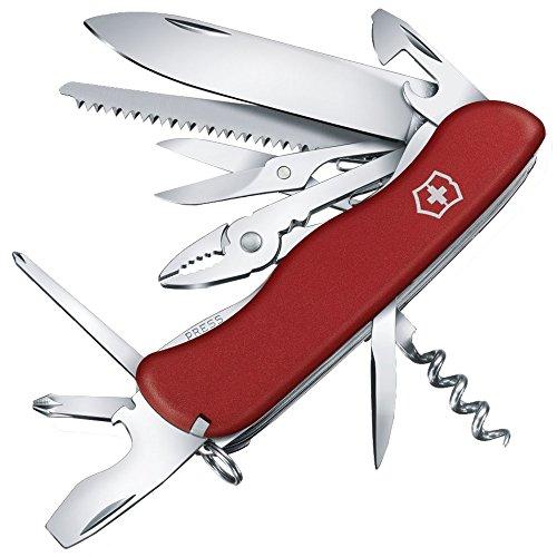 Victorinox Taschenmesser Hercules (18 Funktionen, Kombi-Zange, Schere, Säge) rot
